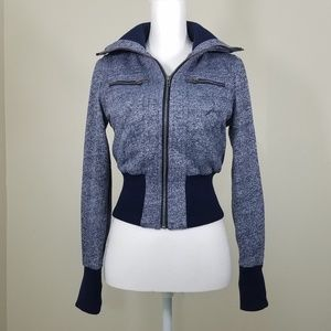 Ambiance Apparel Cropped Bomber Jacket Size S